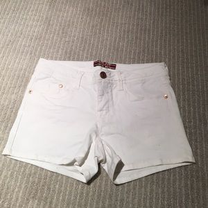 Makers of True Originals Pants - Makers of True Originals White Denim Shorts