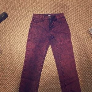 refuge Denim - Purple acid wash skinny jeans
