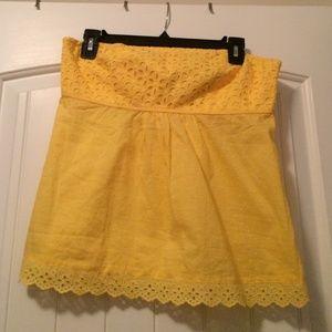 Moda International Tops - Adorable Bright yellow tube top🌼
