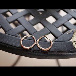 Rose Gold Fossil Earrings