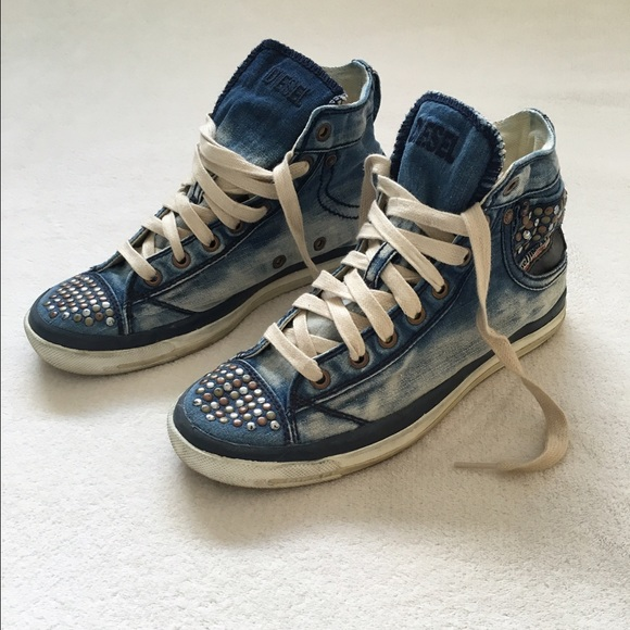 Diesel Shoes | Sneakers Women Jeans Material Size 885 ...