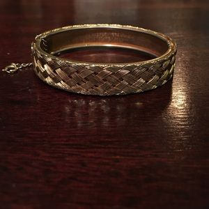 Vintage weaved bangle bracelet