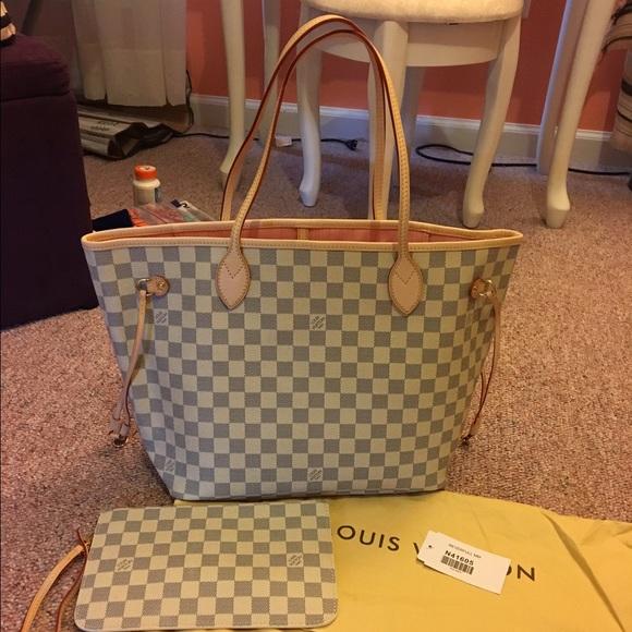 Louis Vuitton Handbags - LV Neverfull MM DA Rose Ballerine Interior edf653554d