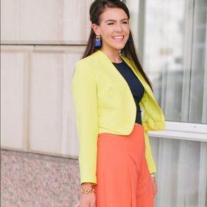 Topshop Jackets & Blazers - 💕Host Pick!💕TopShop neon lime blazer