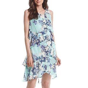 SL Fashions Dresses & Skirts - 30% OFF BUNDLES - Mint/Blue Tiered Floral Dress