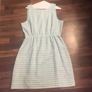 Jcrew Light blue striped dress
