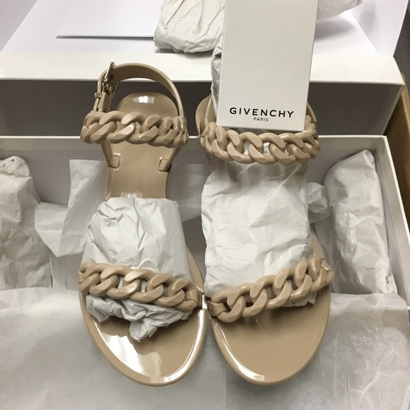 875dc48c6099 Givenchy nude chain link jelly sandals