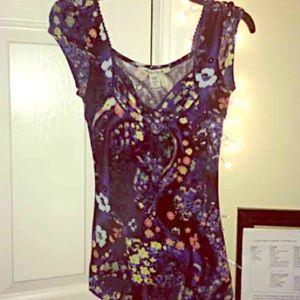 American rag floral top
