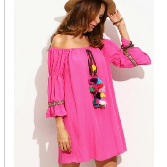 ec835b921704 Pink POM POM dress..wear for all occast