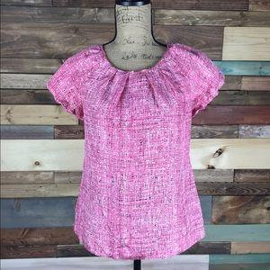 Ann Taylor Tops - Ann Taylor Pink Flowy Silk Blouse - Small Petite