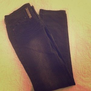 Mango Denim - White wash black Skinny leg jeans
