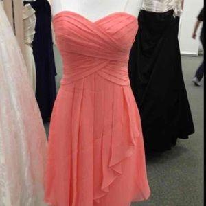 David's Bridal Dresses & Skirts - Coral Sweetheart Strapless Dress 12