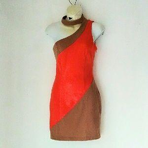 asos one shoulder dress
