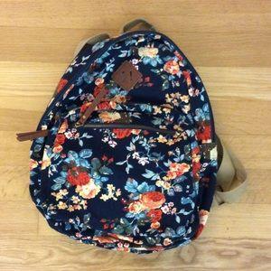 Navy floral backpack