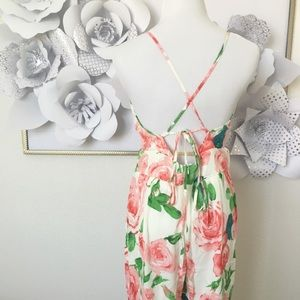 Citrus And Lavender Lane  Dresses - White Floral Jumpsuit
