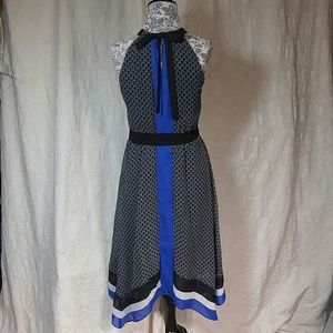 Ice Dresses & Skirts - Ice Black Blue & White Dress