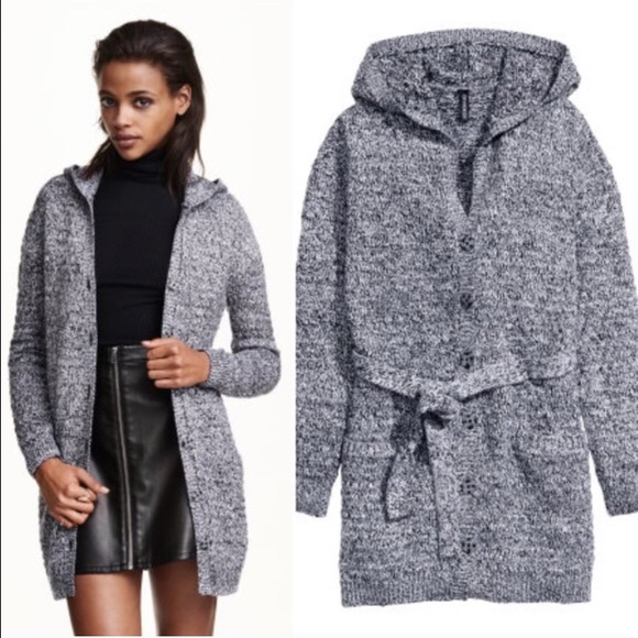 H&M - H&M Belted Hooded Cardigan from ! ! lauren's closet on Poshmark