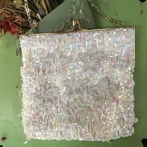 IRIDESCENT Sequined Beaded Vintage Bag