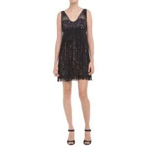 BCBG Fringe Dress with Sleeves