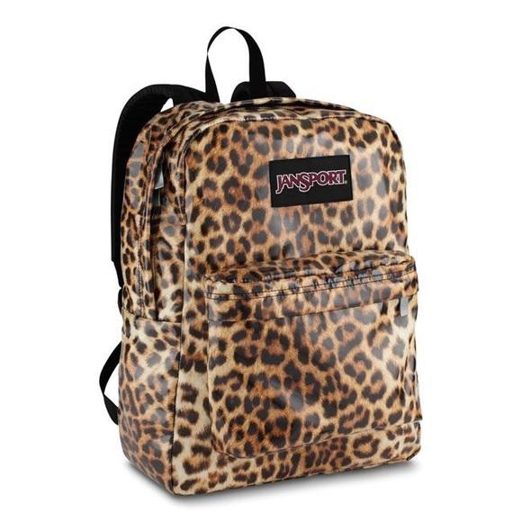 40% off Jansport Handbags - Jansport leopard print backpack from ...