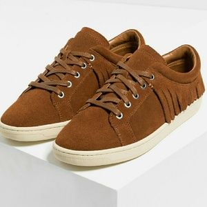 NEW Zara real leather shoes sneakers brown 7.5 8 9