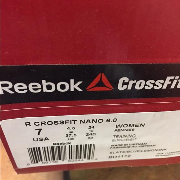Reebok Nano 6 Damestørrelse 8 J46naOK