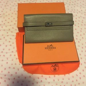 birkin bag cost - Hermes leather wallet on Poshmark