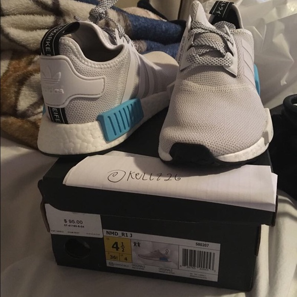 ADIDAS NMD WHITE/ BABY BLUE