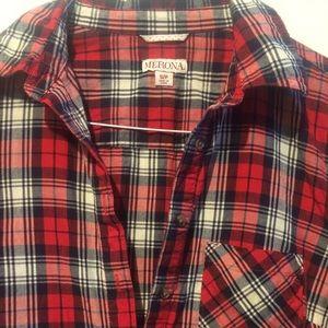 MERONA Plaid Button Tunic!🤘🏻💕