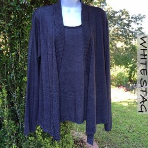 White Stag Sweaters - NWOT Blue White Stag 2 In One Cardigan Sweater