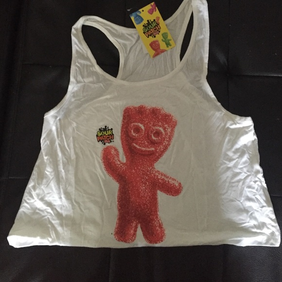 tops sour patch kid candy crop tank m nwt
