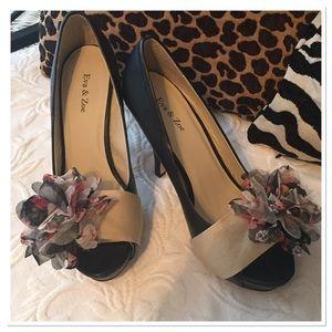 Shoes - Peep Toe Platform Heels