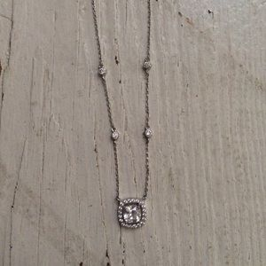 Diamond necklace with halo