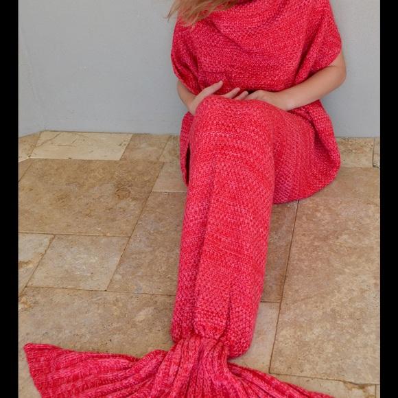 Sidekicksbiz Other Sale Watermelon Crochet Mermaid Tail Blanket