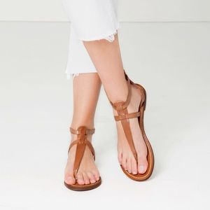 36d3a1321fa Zara Shoes - Zara Leather crossover flat sandals