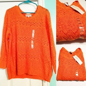 NWT Jones New York Sunset Orange Sweater