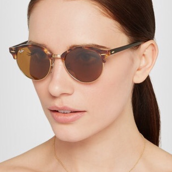 3f07fa6e338 RAY-BAN Clubround acetate and gold-tone sunglasses.  M 57b7205a2fd0b7ac7f0034a1. Other Accessories ...