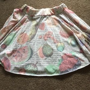 Fruit pastel skirt
