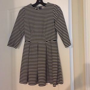 GAP fit and flair striped dress