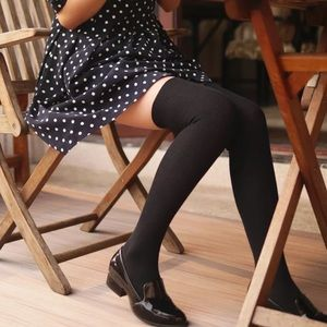 Accessories - Over the Knee High Black Socks