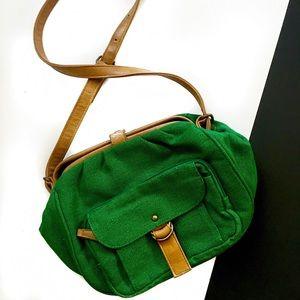 Barneys New York Handbags - Vintage green Barneys New York crossbody bag