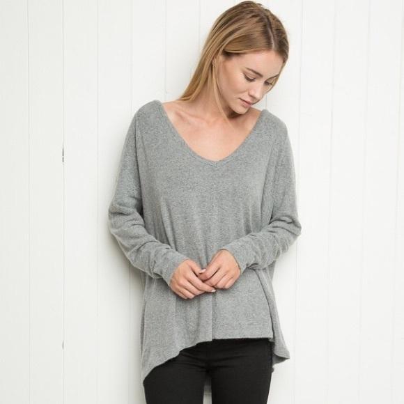 Brandy Melville Sweaters , ❌SOLD❌ Brandy Melville Grey Bobbie Knit Sweater
