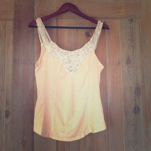 Free People tank with Braided Straps