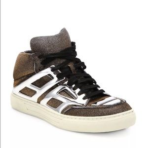 "Alejandro Ingelmo Shoes - Alejandro Ingelmo ""Tron"" Metallic High Tops"