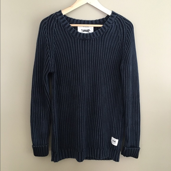 51% off Urban Outfitters Sweaters - UO Navy Ribbed Sweater from ...