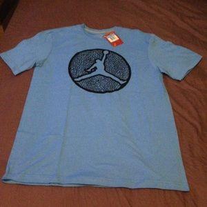 Mens Jordan T-Shirt featuring Jordan Jump Logo