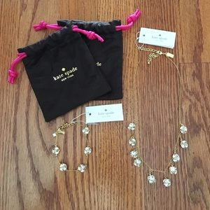 100% authentic Kate Spade necklace and bracelet.