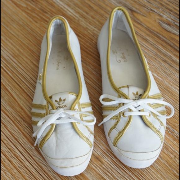 newest e41fe 1c1d5 adidas Shoes - Adidas Adria Sleek Series WhiteMetallic Gold, US6