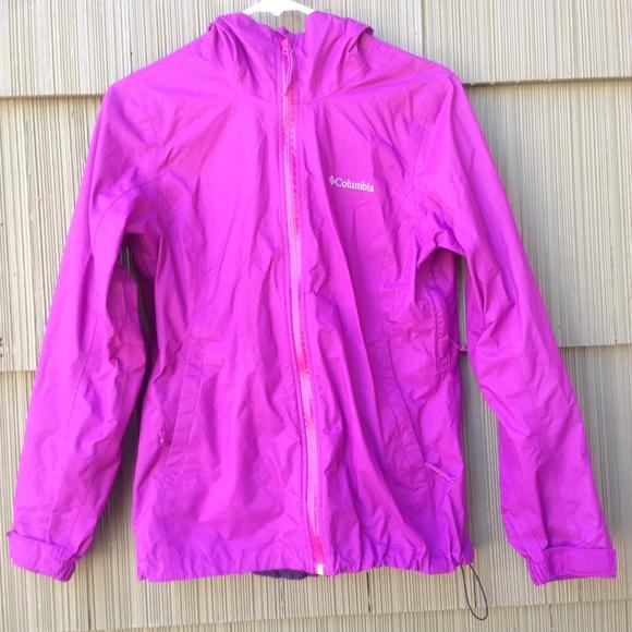 79% off Columbia Jackets & Blazers - Columbia omni-tech purple ...