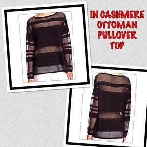 In Cashmere Ottoman Black Sweater Top